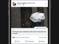Additional Context on News Stories in News Feed