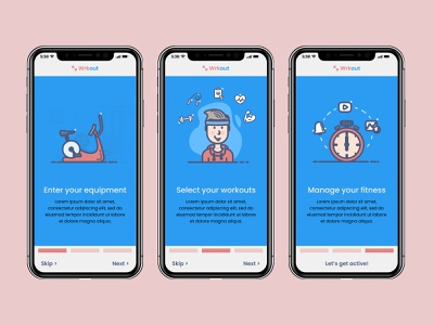 Wrkout Fitness App  - Onboarding ui challenge figma workouts fitness onboarding mobile