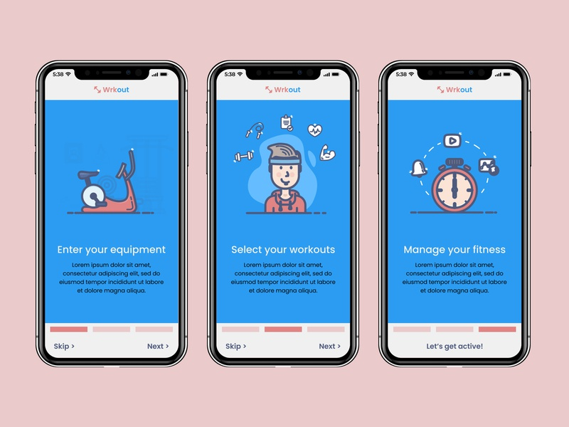 Wrkout Fitness App  - Onboarding