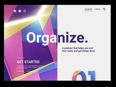 Organize Podcast Concept figma bright podcast concept fresh ui clean webdesign