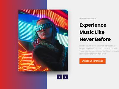 Experience Music Concept design ui music concept future vr figma
