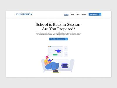 SH School Concept concept clean ui clean web design figma