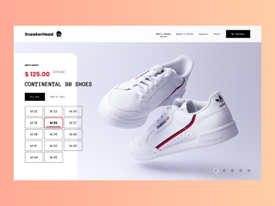 eCommerce   Shoes Concept concept design clean shopping cart ui product ecommerce figma