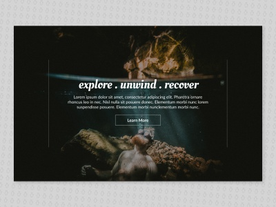 Snorkeling Retreat travel web coral reef ui aquatic vacation web design figma