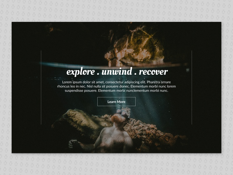 Snorkeling Retreat travel web coral reef ui aquatic vacation web design figma