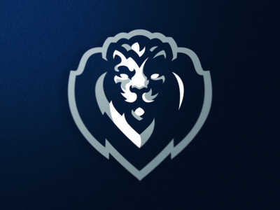 Lion Shield mascot logo