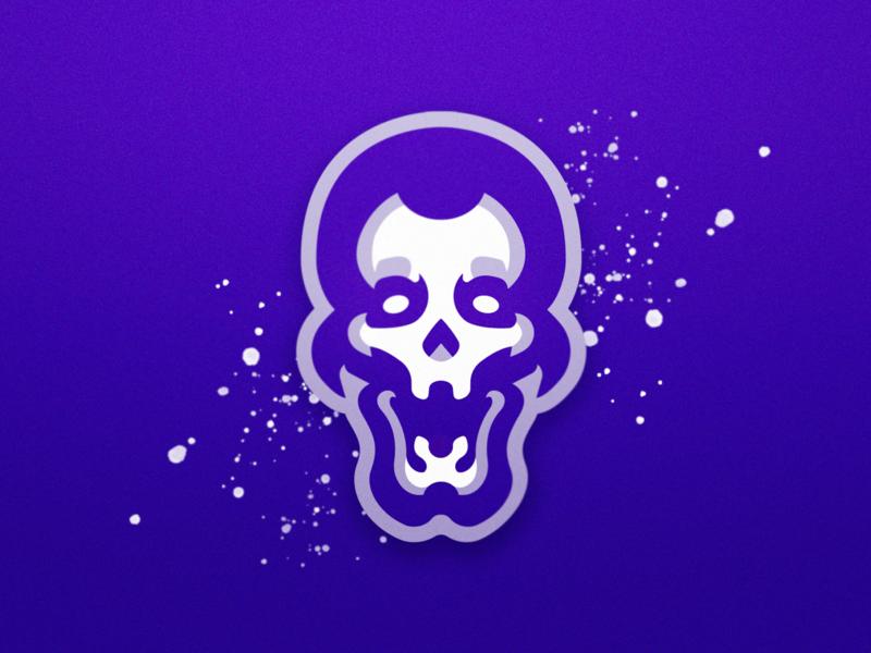 Cyber Skull Mascot Logo