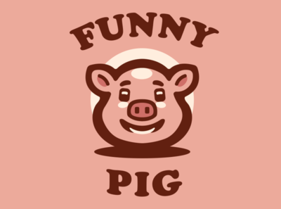 Funny Pig pig esports logo branding vector logo mascot logo esports illustration logotype design
