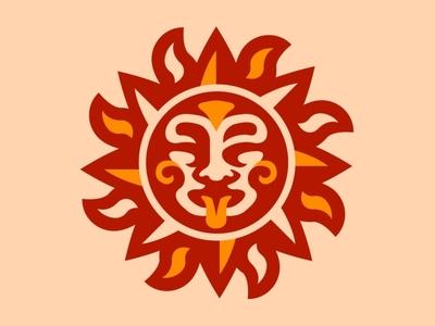 Sun face logo typography esports logo branding vector logo mascot logo esports illustration logotype design