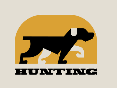 Hunting dog logo 1 red hungry minimalist logo minimalism mascot logo esports illustration logotype design logo puppy dog hunting hunter