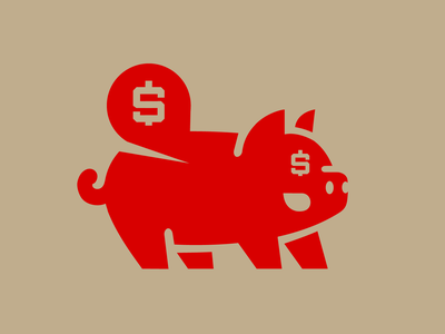 Pig logo 1 piggybank piggy bank vector app animal ui skull esports esports logo illustration logotype design buisness money pig