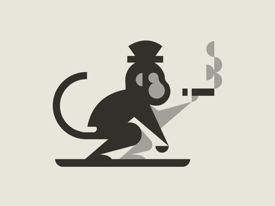 Smoking monkey logo minimalist logo simple mascot logo illustration typography vector esports esports logo branding logo design space monkey sketch smoke