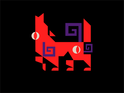 Corrupted wolf logo 2 demon red skull esports logo esports illustration logotype branding vector web design warcraft animal wolf