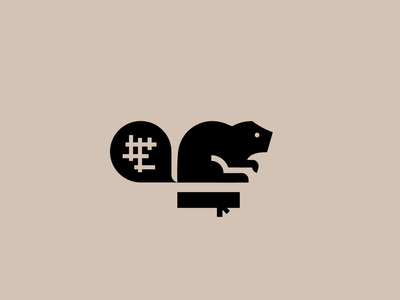 Beaver logo 1 mascot logo esports typography logotype illustration logo branding design animal art black beaver animal logo animal