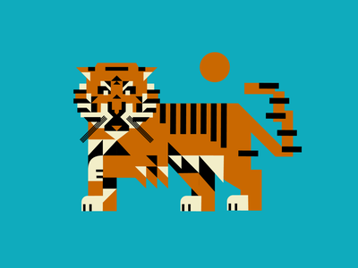 Tiger illustration 1 logo branding vector mascot logo typography esports logotype illustration design tiger logo animal illustration animal tiger