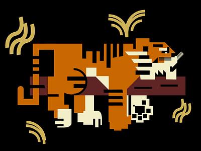 Tiger illustration 6 / Sleeping sleeping tiger ui ux branding vector mascot logo esports logotype illustration design logo motion graphics graphic design 3d animation