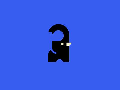Elephant logo. minimal elephant animal ux ui branding vector mascot logo esports logotype illustration design logo motion graphics graphic design 3d animation