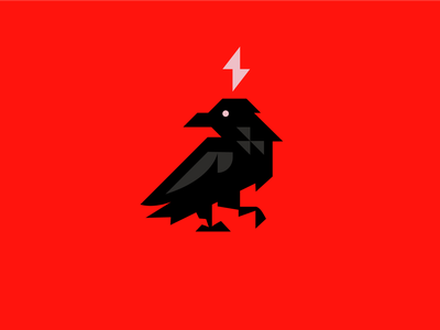Raven logo light crow raven bird animal ui ux vector mascot logo esports logotype illustration design branding logo motion graphics graphic design 3d animation