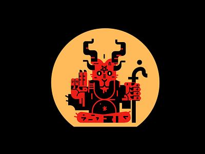 Satan Illustration hell goat red god satan motion graphics graphic design 3d animation ui logo branding vector mascot logo esports logotype illustration design