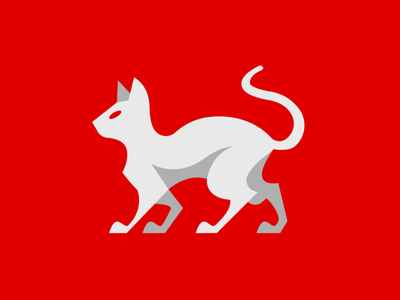 Sphynx branding vector mascot logo esports logotype illustration design red white sphynx cat logo motion graphics graphic design 3d animation ui