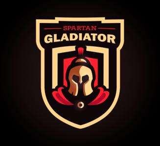 Spartan Gladiator mascot logo