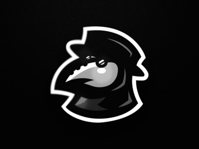 Plague Doctor mascot logo