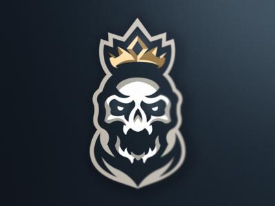 Fallen King mascot logo