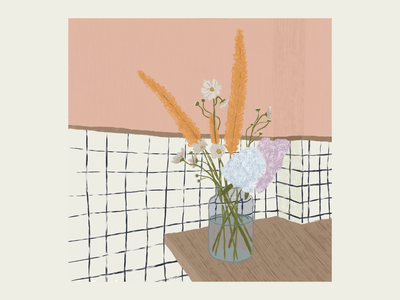 Still Life still-life flowers digital illustration procreate digital art illustration graphic design design stilllife