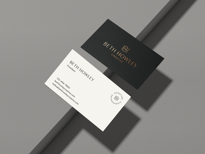 BHC Business Card branding logo monogram typography graphic design design interior design logo interior designer interior design business cards business card design gold foil business card