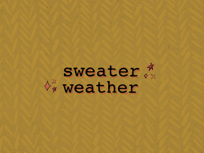 Sweater Weather ✨ spooky season procreate art type sweater fall colors fall autumn autumn colors pattern typography digital illustration procreate digital art illustration graphic design design