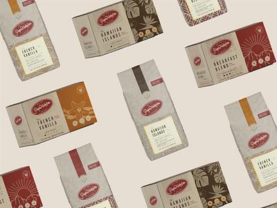 PapaNicholas Coffee coffee packaging coffee brand coffee branding coffee bag coffee packaging design packaging branding graphic design design