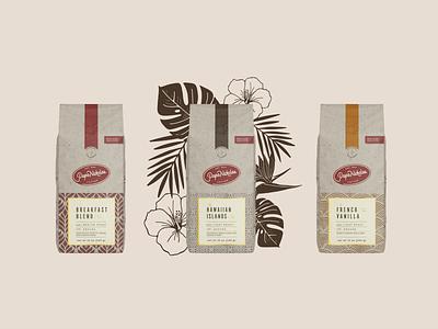 PapaNicholas Coffee vintage heritage coffee packaging coffee bag coffee packaging branding illustration graphic design design