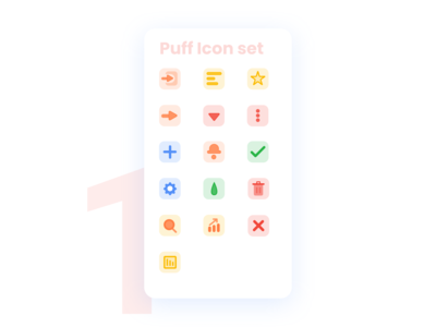 Puff Icon set for Dashboard