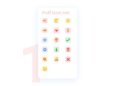 Puff Icon set for Dashboard ux ui freebie icons flat design icon design icon set