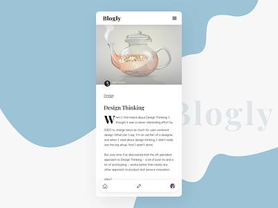 Blogly App blog header shapes shadows author reading app mobile app design ux ui typography logo blog design article page blog app blogging blog
