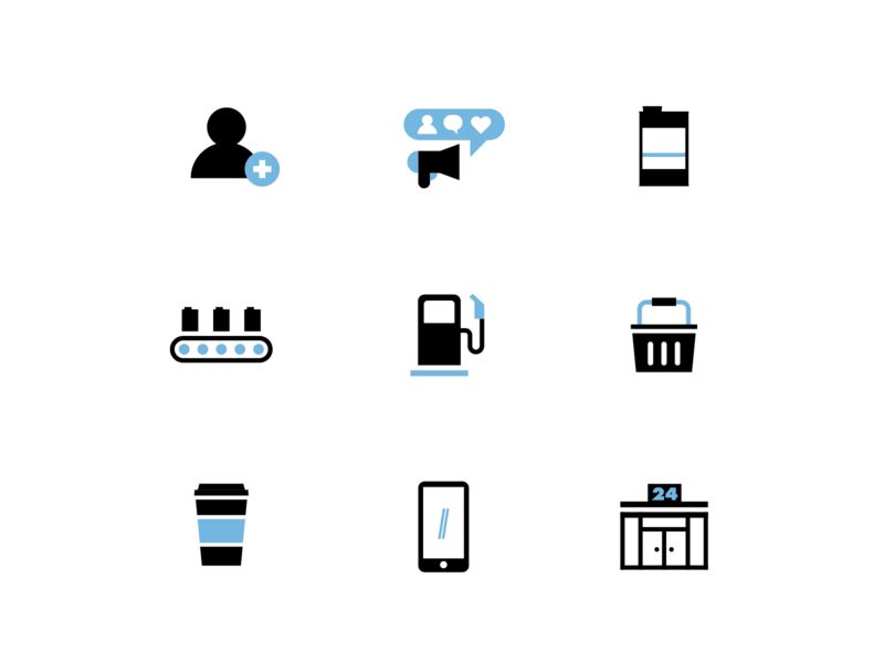 Drive Coffee Icons