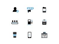 Drive Coffee Icons