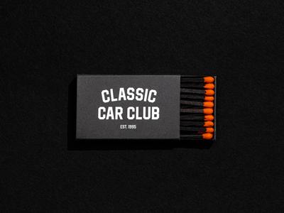 CCC Matches car classic matches black on black matchbox match print branding automotive