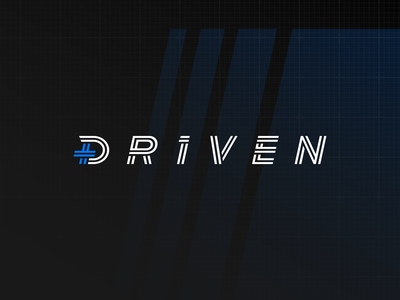 Driven Studios Wordmark Refresh plus letters automotive driven studios wordmark typography lettering identity branding design logo