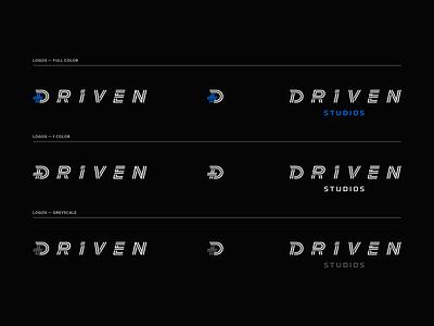 Driven Studios Logo Set automotive branding identity icon studios driven set logo logotype
