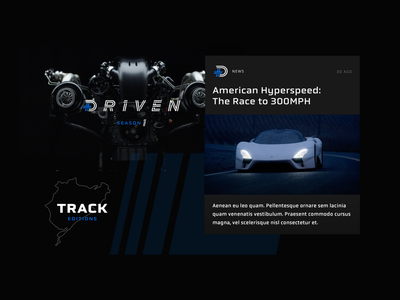 Driven Studios Branding driven studios track identity ui vehicle branding car automotive