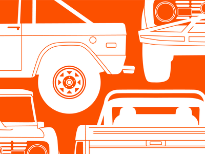 69 Ford Bronco pattern vehicle classic vintage 60s bronco ford car illustration automotive