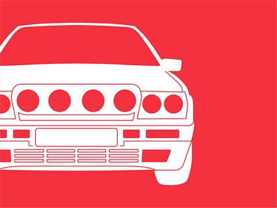 89' Lancia Delta Integrale integrale pattern group b rally 80s lancia car illustration automotive