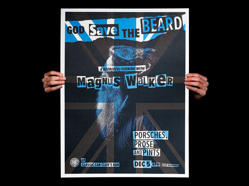 Magnus Walker Poster the sex pistols union jack punk porsche magnus walker silkscreen poster typography print automotive