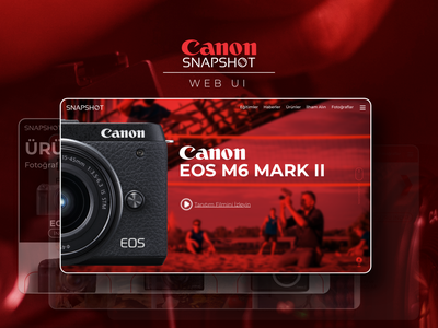 Canon Snapshot Web UI clean freebie interface ui web photo canon