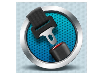Fasten your seat belt icon - Czech Point System app seat belt fasten app icon android ios illustration car graphic design mobile