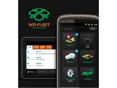 WD Fleet - Android app icons & UI/UX design android app graphic illustration icon mobile car dispatch vehicle navigation ui
