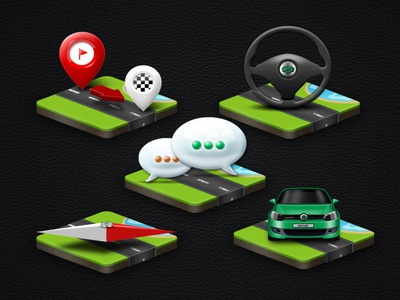 WD Fleet - Android app icons design android app graphic illustration icon mobile car dispatch vehicle navigation ui