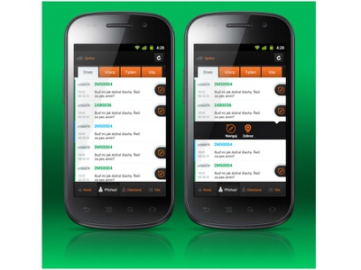 WD Fleet Messages - UI/UX - Android design ui ux android graphic app interface screen messages mobile icon illustration