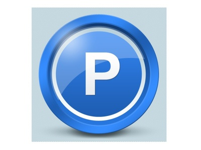 Parking icon - Czech Point System parking car icon design graphic android ios illustration application blue white shiny
